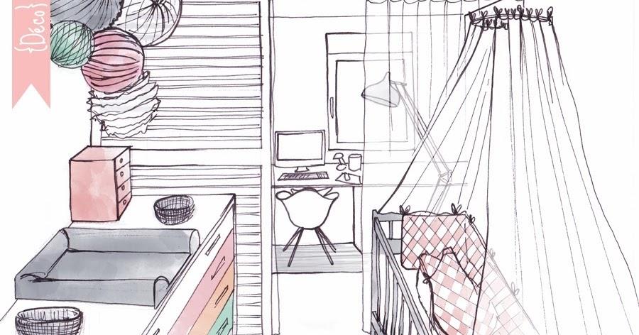 minigougue d co partage des espaces bureau chambre b b. Black Bedroom Furniture Sets. Home Design Ideas