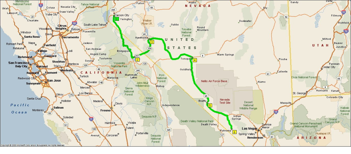 Roving Reports By Doug P 201236 Hawthorne To Pahrump Nevada