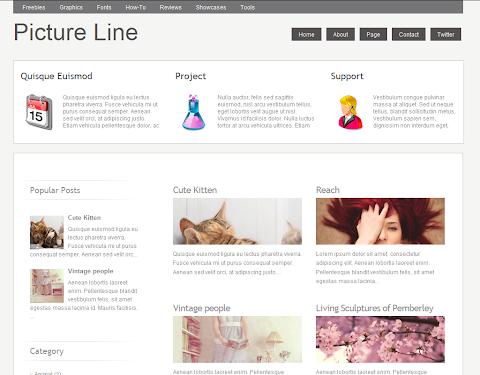 Picture Line Blogger Theme