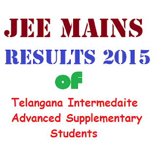 JEE Mains Results 2015 of TS Inter Adv Supply Students