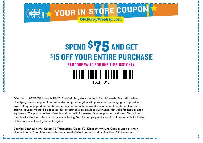 Old Navy coupons can be entered during the payment step of checkout. Look for the coupon box below your payment information. Note that some Old Navy coupons can be combined on the same order for maximum savings, such as percent-off codes and free shipping .