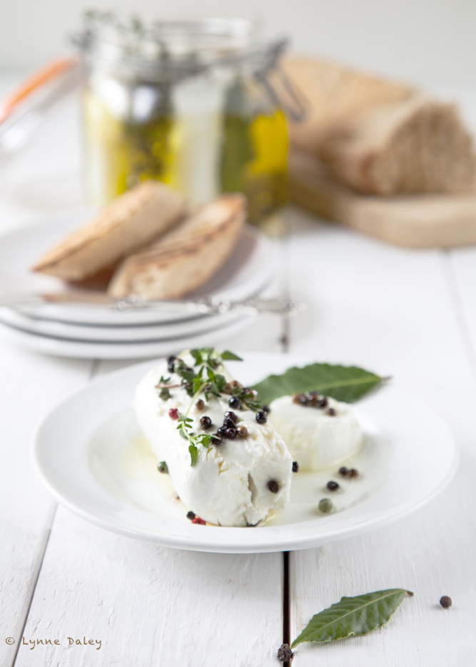 Marinated Goat Cheese Recipe — Dishmaps