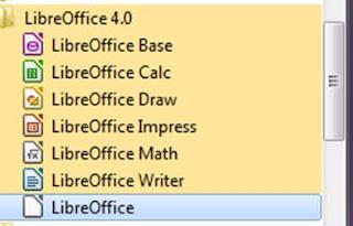 LibreOffice pada tampilan pertama
