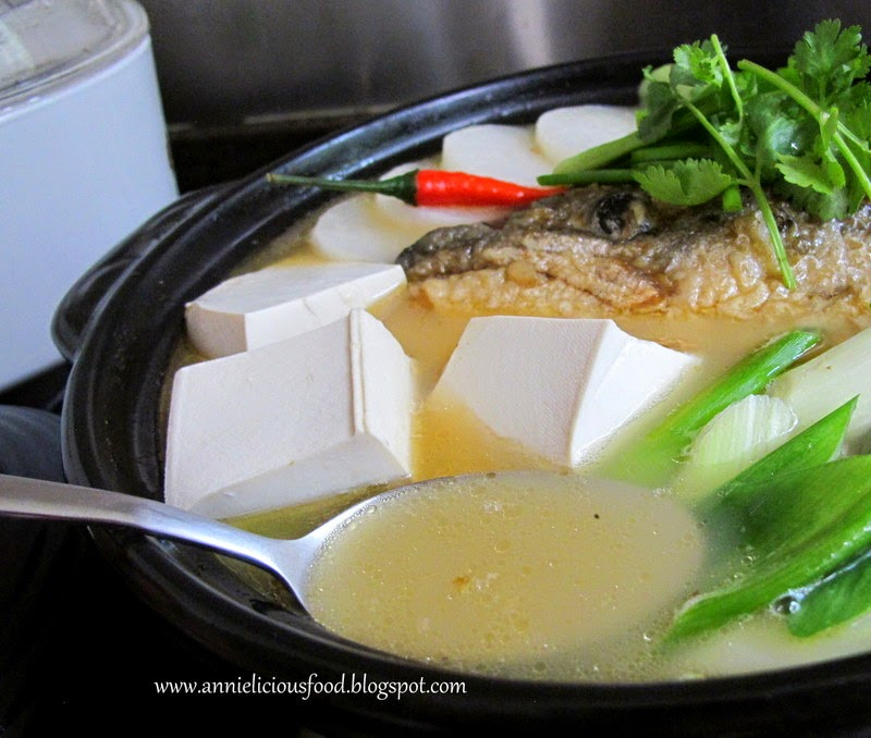 Annielicious food salmon fish bone tofu soup sunday january 18 2015 forumfinder Choice Image