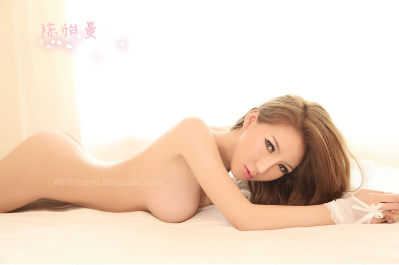 Asian Girls Photos: Hot Chinese Model Chen Yi Man in white lingerie