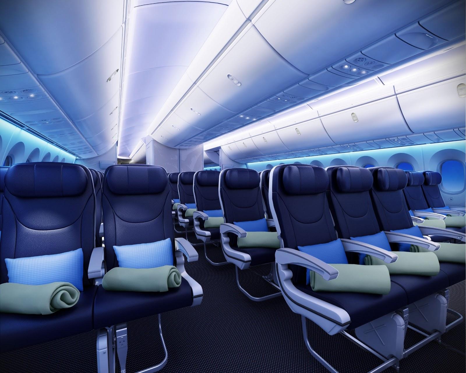 Viet aviation thomson airways boeing 787 cabin interior for Interieur boeing 757
