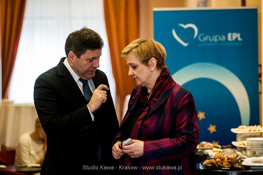 Konferencja EPP/EPL w Krakowie. Event, obsluga fotograficzna, nz. Janusz Piechociński i Róża Thun