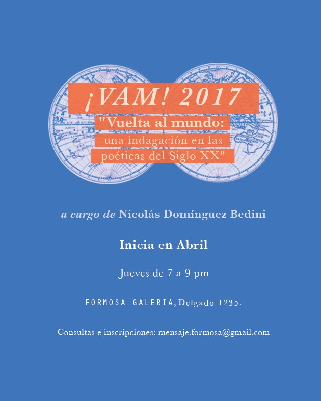 Taller de Lecturas ¡VAM! 2017 en Formosa Galería, Colegiales