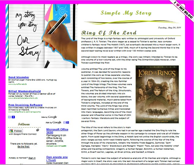 simple my story template is is one simple templates that you can use ...