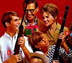 Propaganda dos Rifles Daisy como sugestão de presente de Natal.