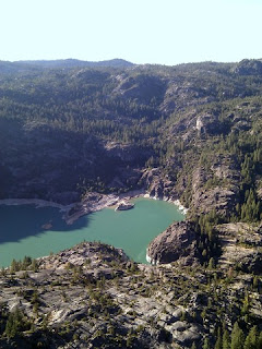 Eastern end of Donnell Lake, west of the Sonora Pass, California