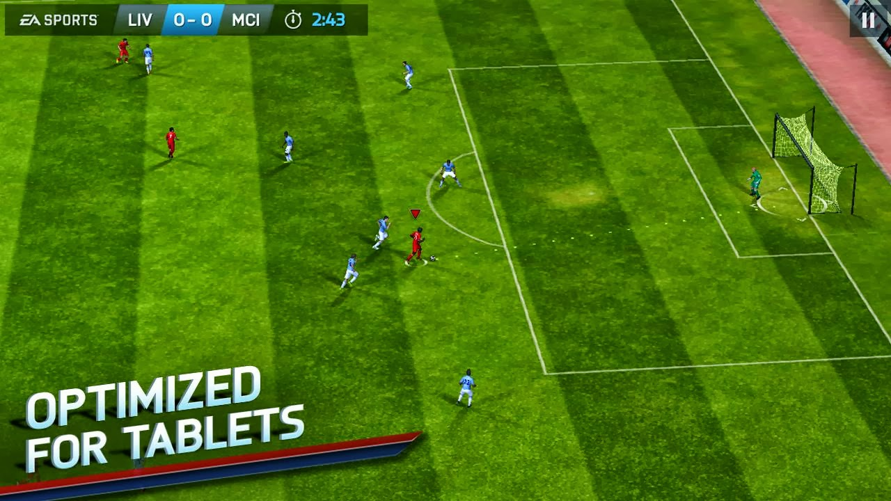 Download best football or soccer games for android in 2014 - The Ea Fifa 2014 Game Requires At Least 1 35gb Of Free Space On Your Android Smartphone Or Tablet While It Requires 1 18gb Of Free Space On Your Ios Device