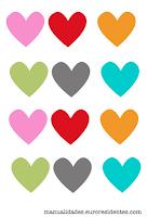 Guirnalda corazones imprimir