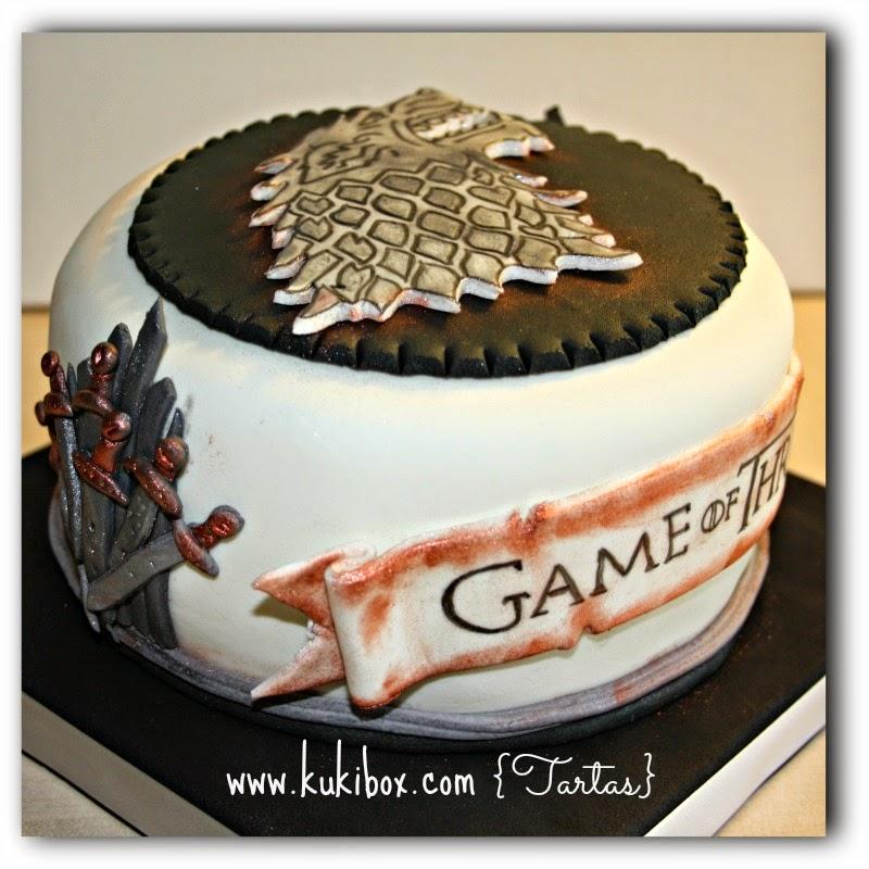 Kuki box tartas y galletas en valencia tarta juego de for Decoracion juego de tronos