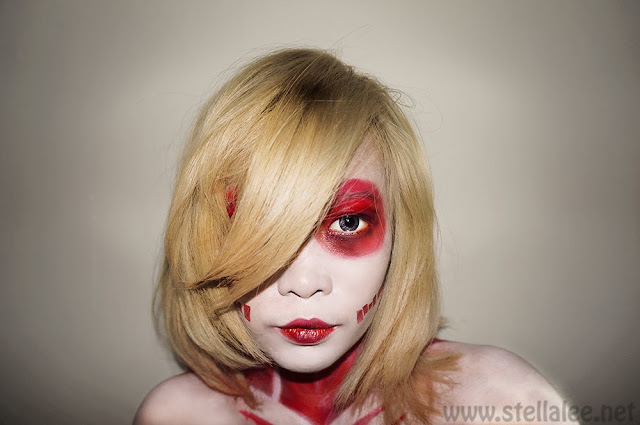 Shingeki no Kyojin Female Titan Make Up 女型の巨人メイク