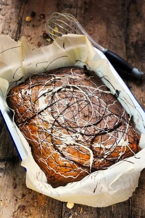 Le vendredi c'est retour vers le futur… Brownie marbré aux deux chocolats parce que… parce que d'abord !