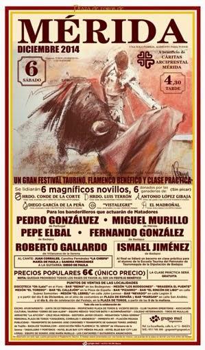 MÉRIDA - ESPAÑA: FESTIVAL DE LOS BANDERILLEROS 06-12-14