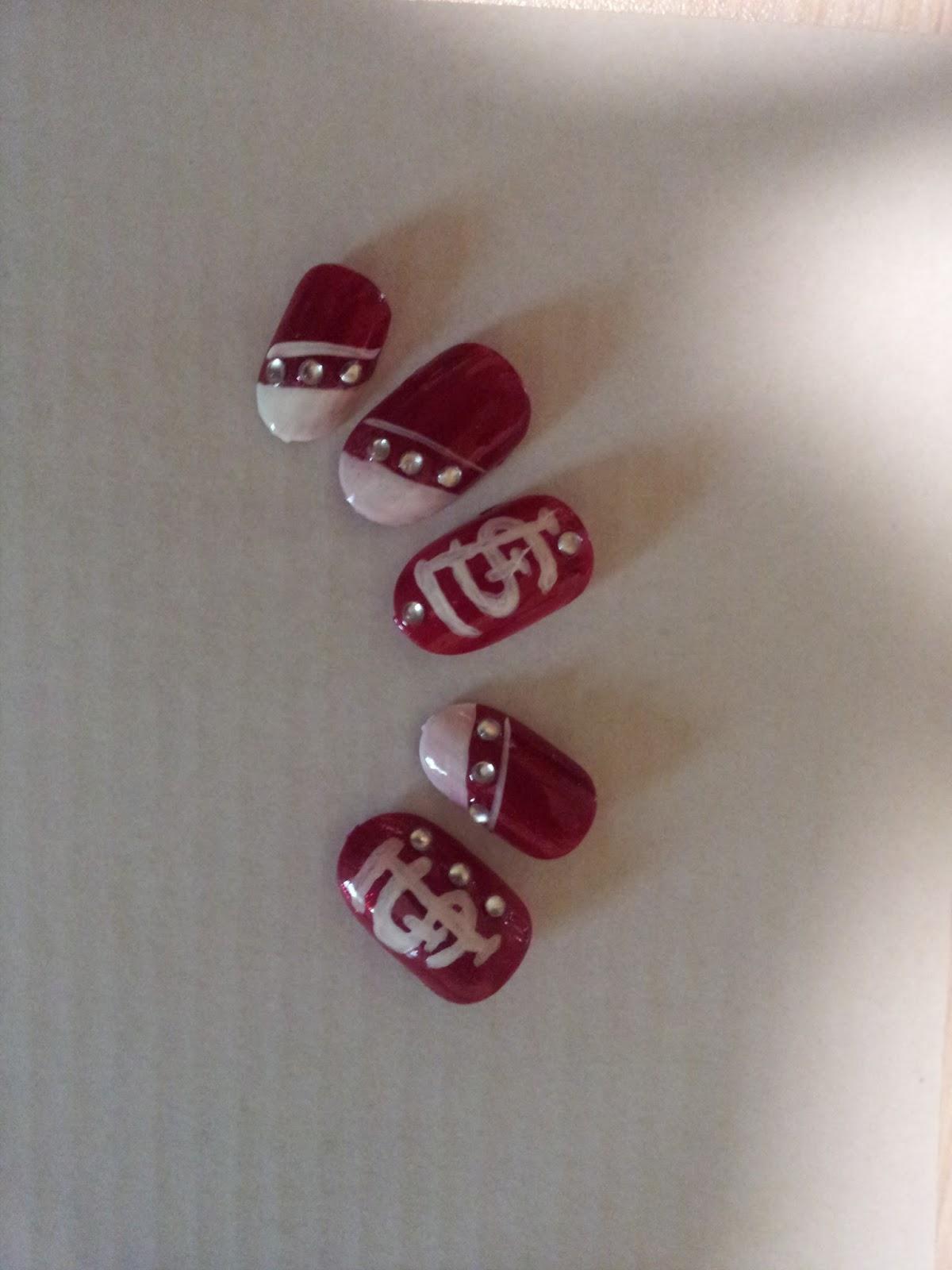 Heather Marie\'s Nail Portfolio: St.Louis Cardinals Fan Nails