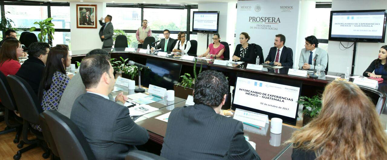 PROSPERA realiza intercambio de experiencias México – Guatemala