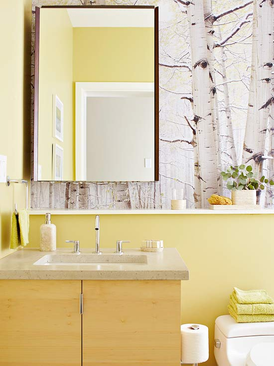 Modern furniture colorful bathrooms 2013 decorating ideas for Small bathroom color schemes