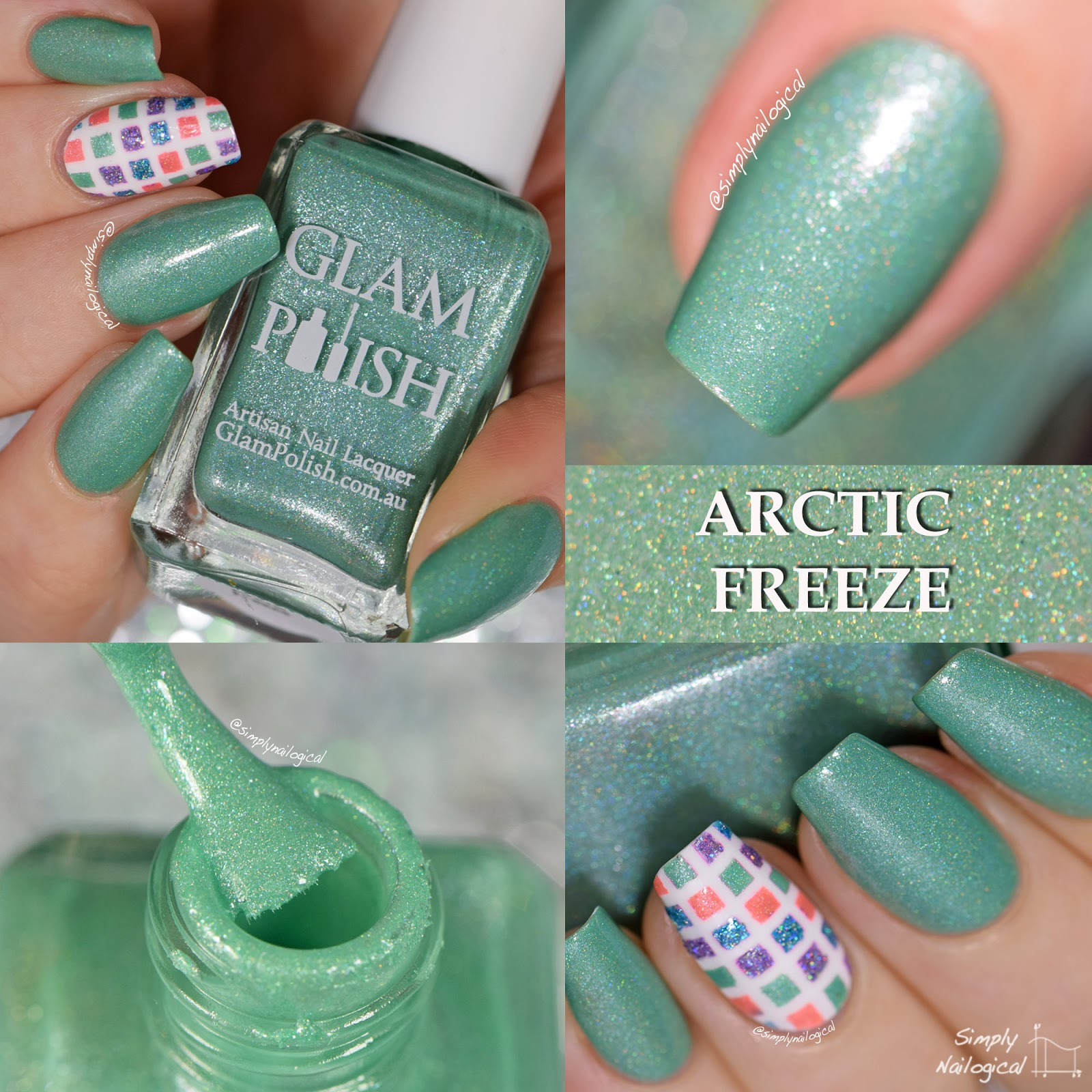Glam Polish December 2014 Arctic Freeze swatch