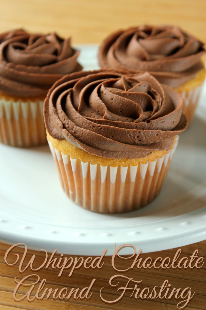 Whipped Chocolate Almond Frosting | framedfrosting.com