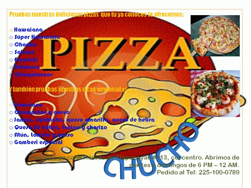"""Pizzas """"CHUCHO"""""""