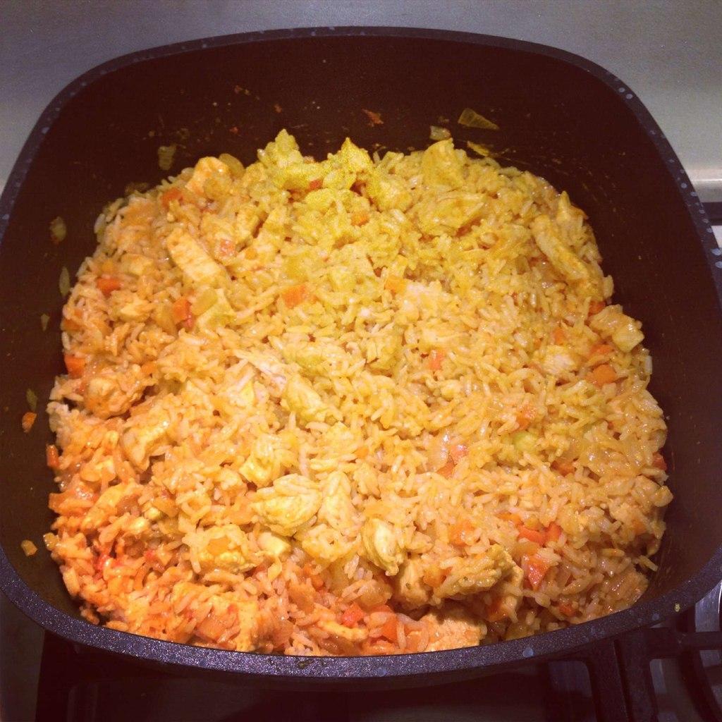 Карри с курицей и рисом рецепт пошагово