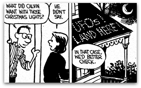 Calvin and Hobbes Christmas comic strip 2