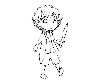 #2 Hobbit Coloring Page