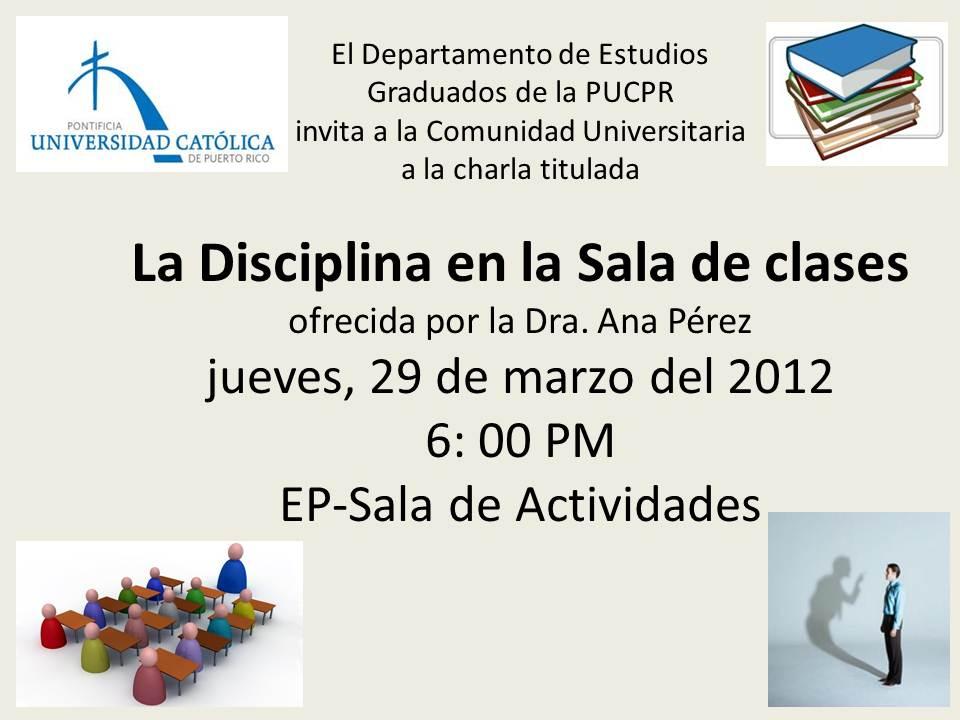 Actividades de desarrollo pucpr recinto de mayaguez for Actividades en el salon de clases
