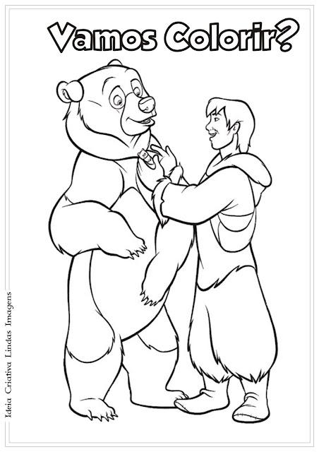 Desenho Irmão Urso para colorir