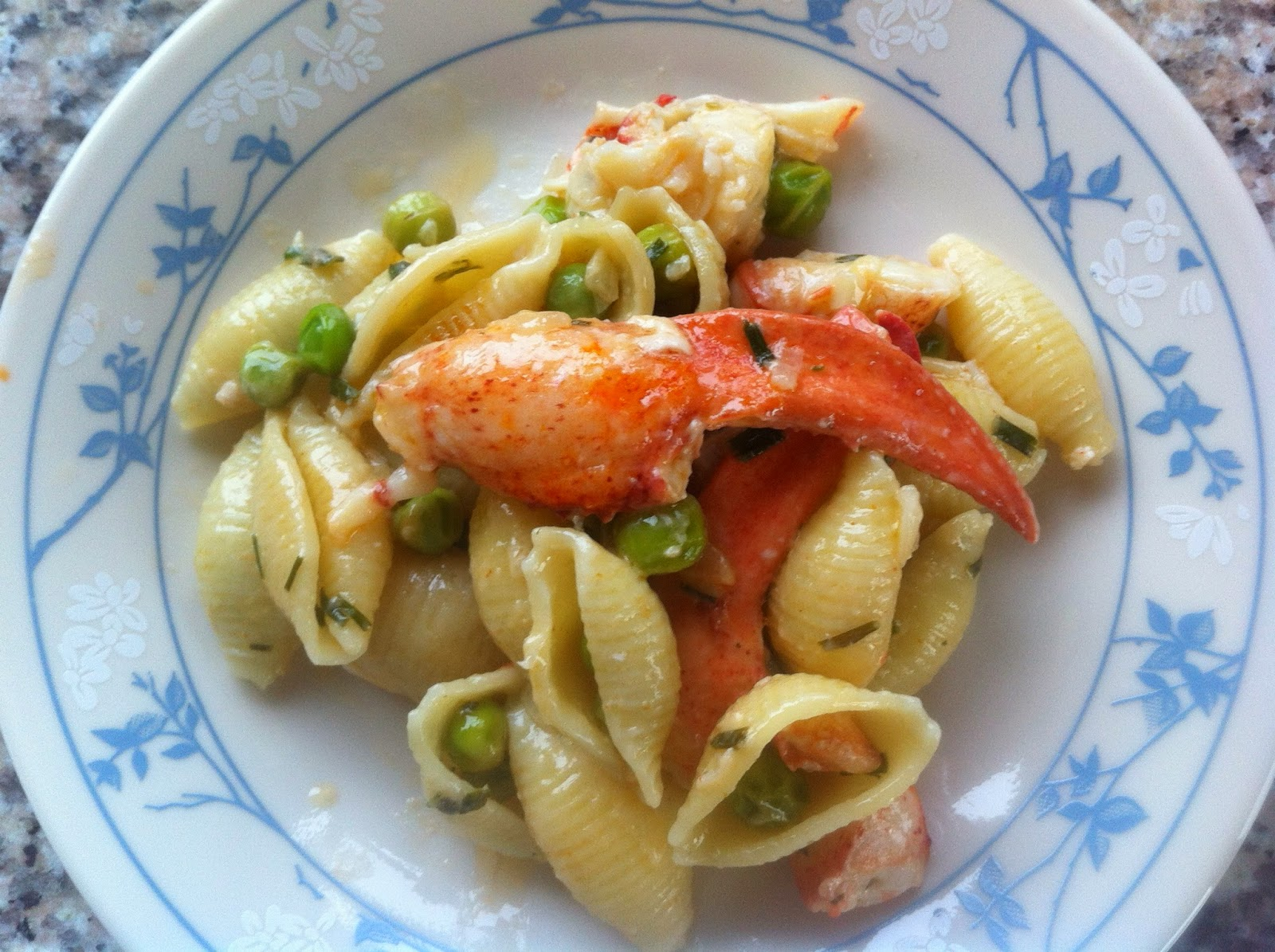plate of lobster pasta