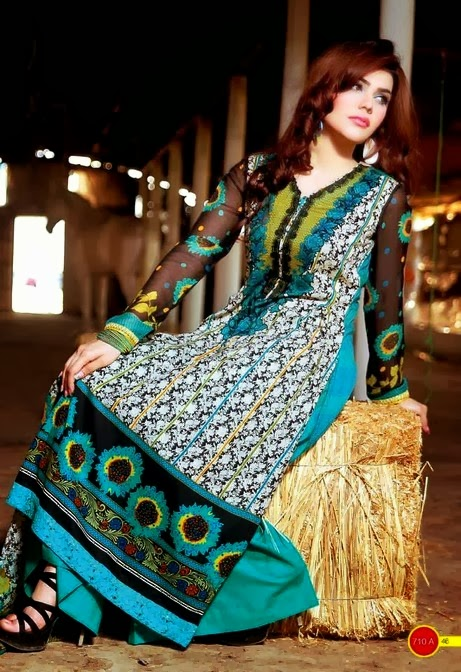 Lawn Dress in Printed Chiffon