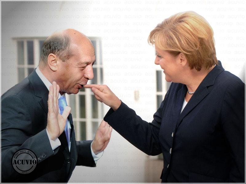 Angela Merkel Traian Funny Photo Consiliul European Sescu