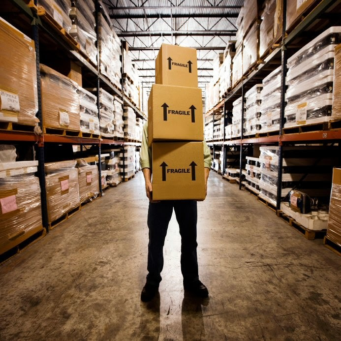Well-managed inventories at warehouse