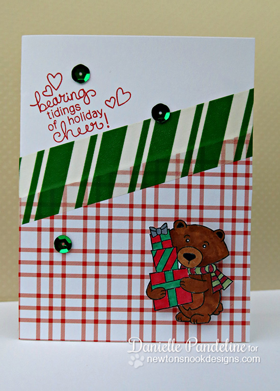 Bear with Gifts Christmas Card by Danielle Pandeline for Newton's Nook Designs - Winston's Home for Christmas Stamp set