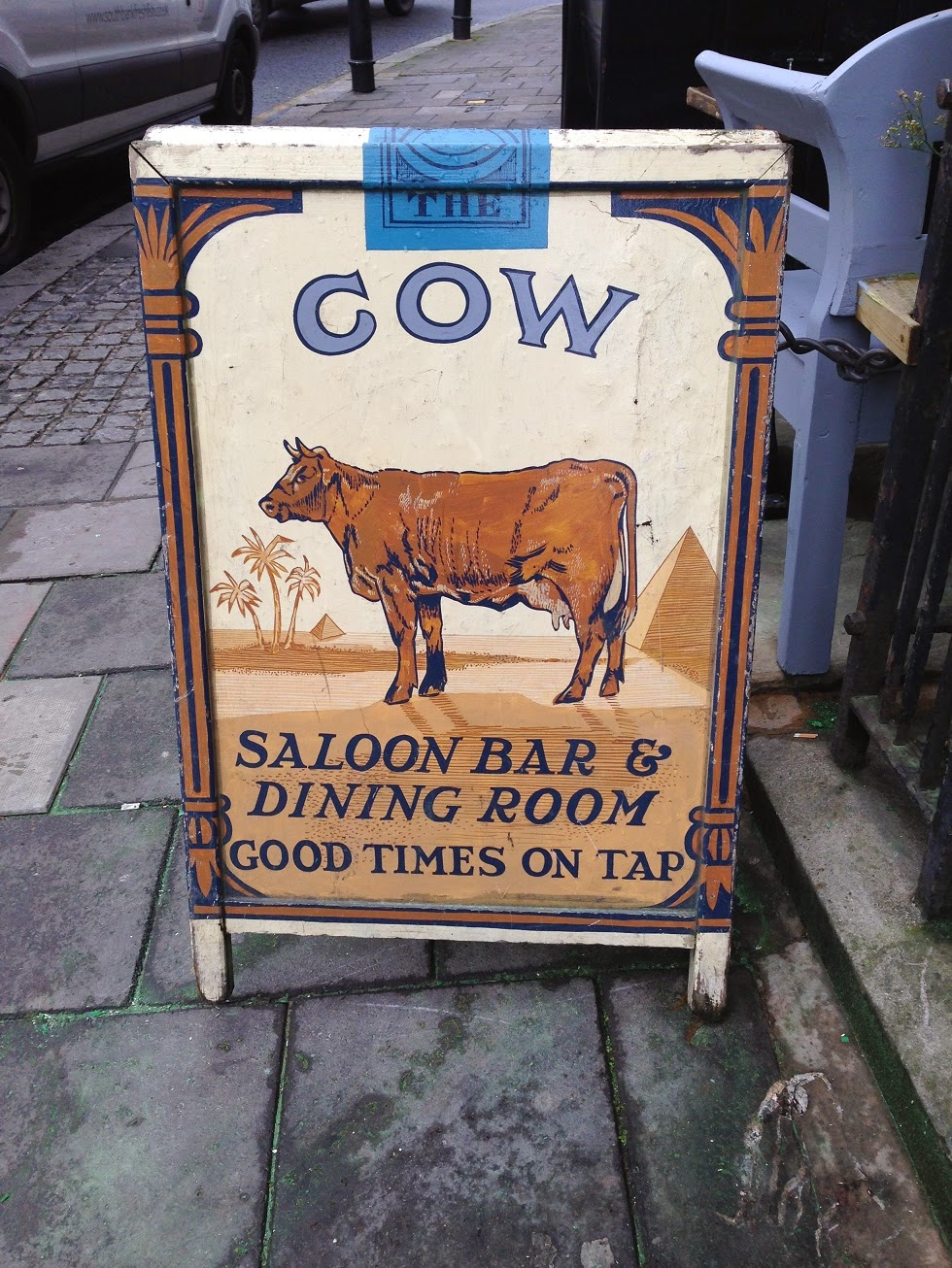 Pub sign, Westbourne Park Road, London W2