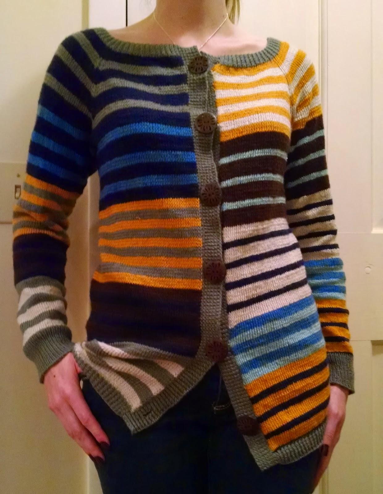 Knitting Pattern Striped Cardigan : Pattern: Nautica Striped Cardigan Knit A Bit Crochet Away