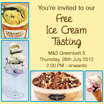 Marks & Spencer Ice Cream Launch