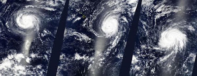 OVNIS huracanes Kilo, Ignacio y Jimena