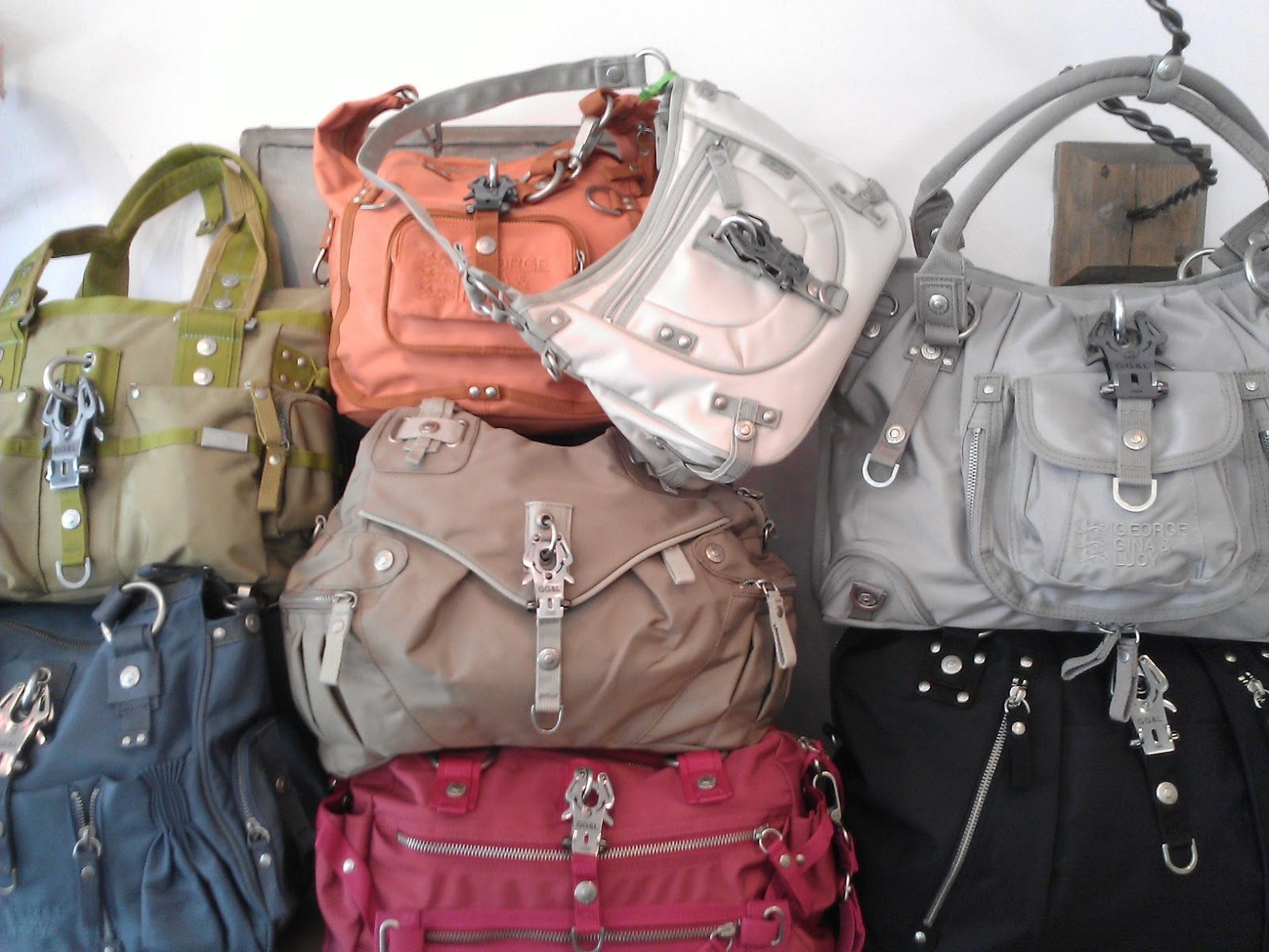 52d8935c2a2 WOW that s a lot of George, Gina and Lucy bags, you may be thinking. For  ordinary bags, yes. But not for this line. These, and the other 20 or so  not shown ...