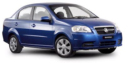 Holden Barina blue
