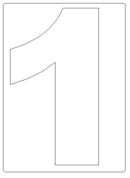 Moldes de numeros para recortar e imprimir - Imagui
