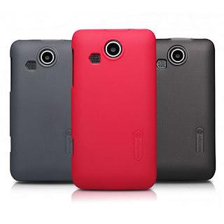 Nillkin Premium Matte Hard Cover Case for Lenovo Lephone P700 + Screen Protector - Black
