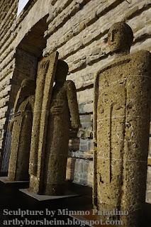 Stone Sculpture by Mimmo Paladino - Basilica di San Lorenzo Florence Italy