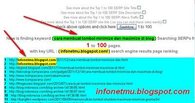 Cara mengetahui peringkat blog pada SERP Google