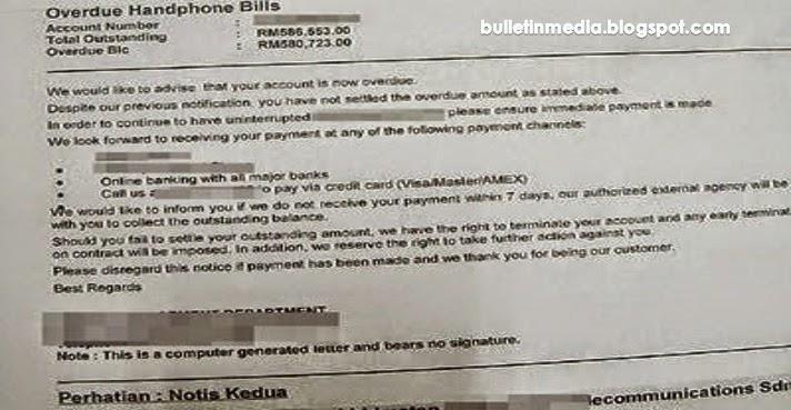 Suri Rumah Terkejut Terima Bil Telefon Tertunggak RM580,723