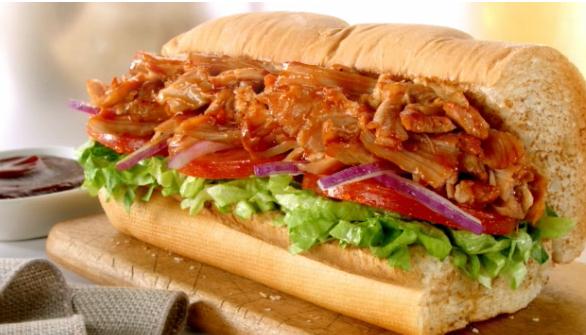 Subway Smokehouse BBQ Chicken sandwich
