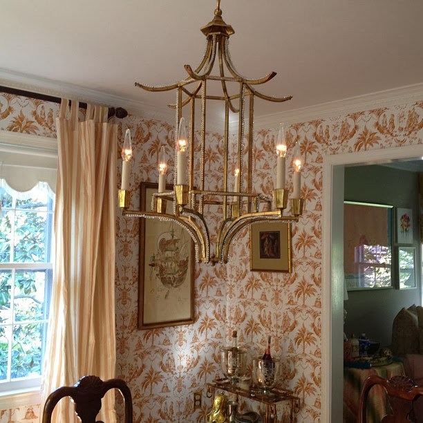 Chinoiserie chic sneak peek and another homegoods find my week has been so insanely busy i have not had the chance to do a proper photo shoot of my new pagoda chandelier but i promised to show it to you aloadofball Image collections